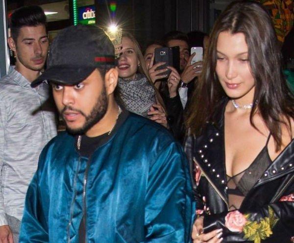 The Weeknd пытался скрыть свое лицо у дома Беллы Хадид