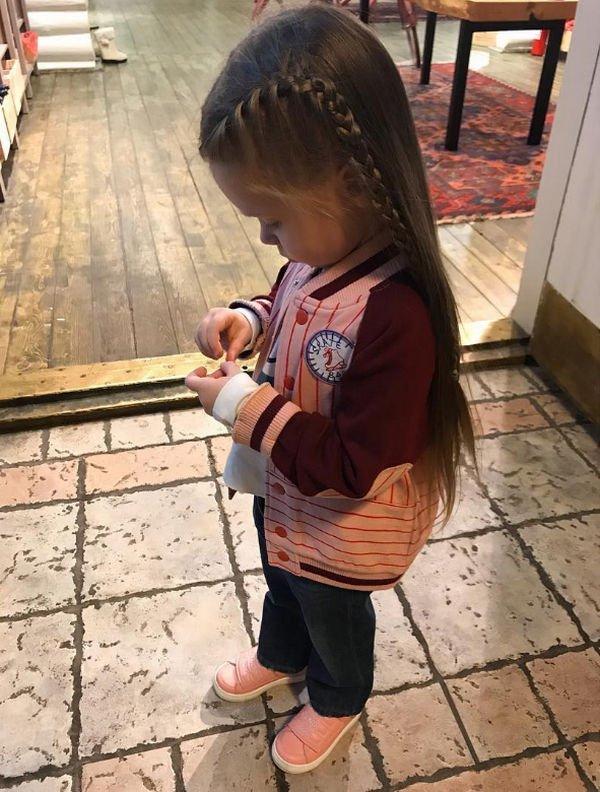 Четырехлетняя дочь Кристины Асмус является для нее примером