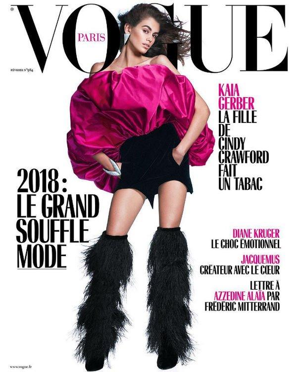 Кайя Гербер похвасталась появлением на обложке Vogue