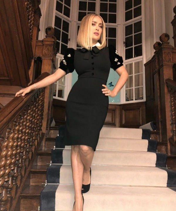 Сальма Хайек кардинально сменила цвет волос