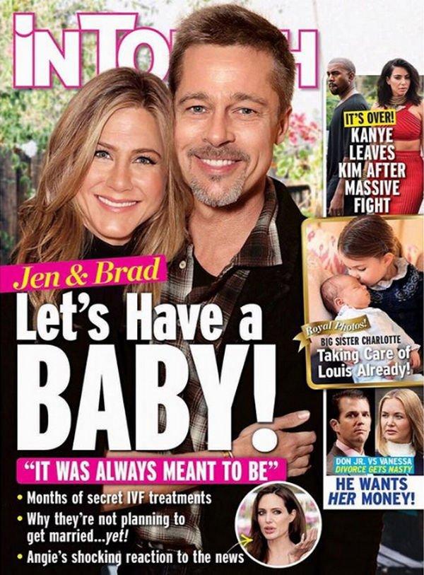 Брэд Питт и Дженнифер Энистон собираются воспитывать общего ребенка