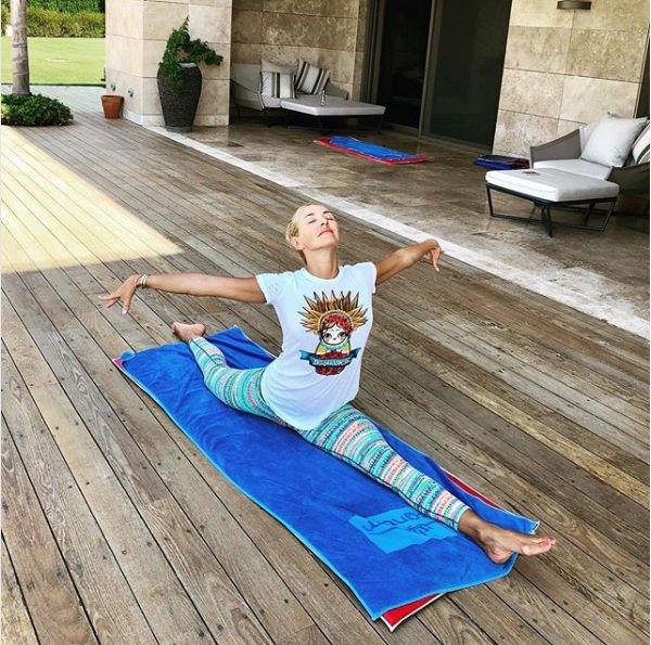Татьяна Навка находится в хорошей физической форме