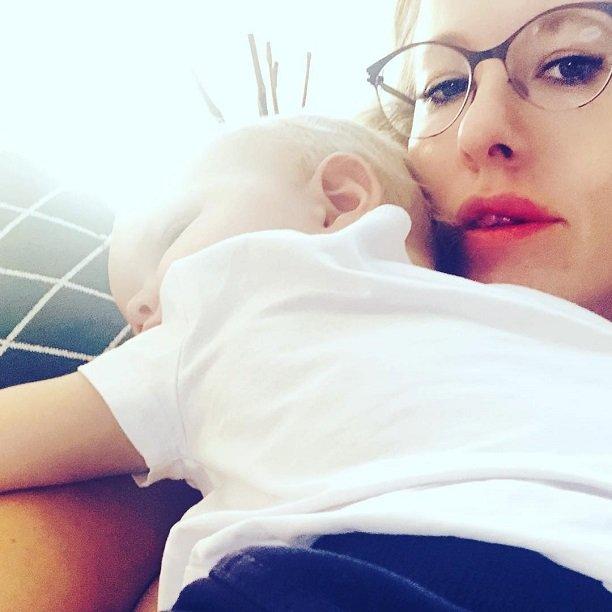 Ксения Собчак сделала трогательный снимок со спящим сыном