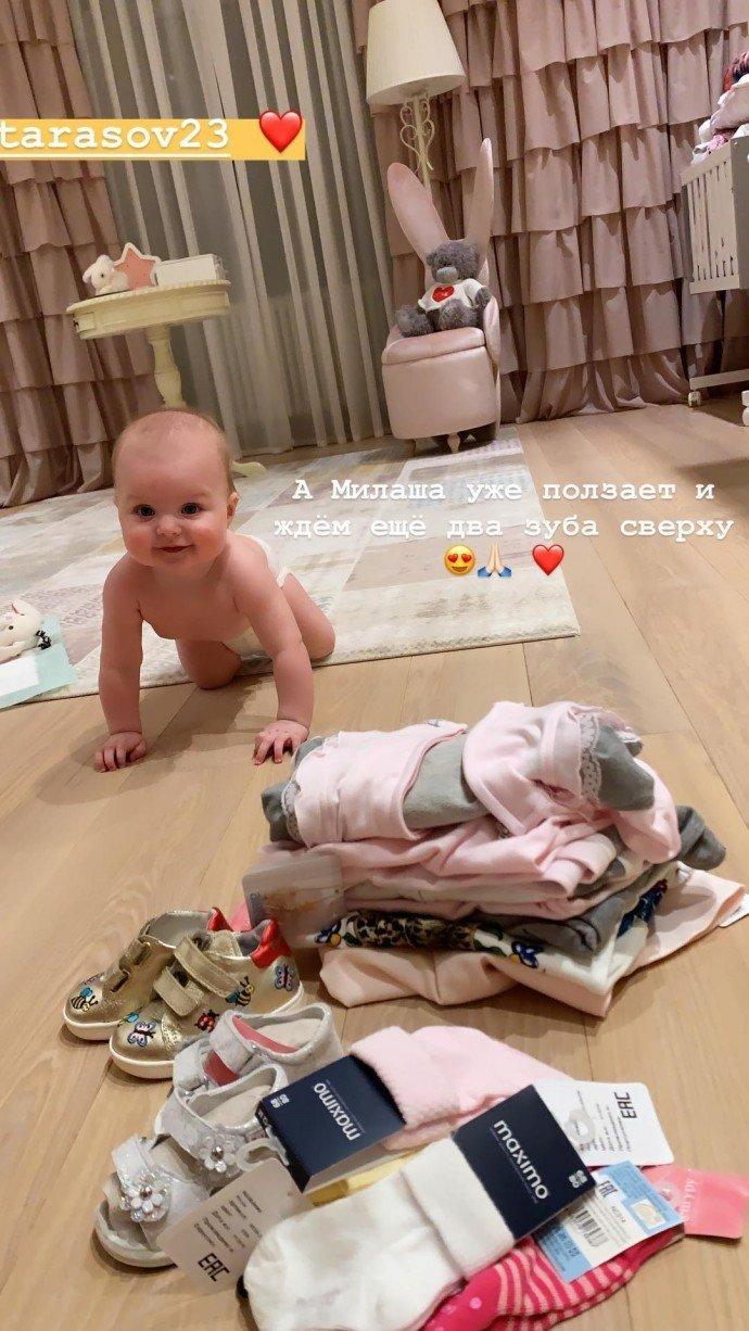 Анастасия Костенко продвигает рекламу благодаря дочке Милане