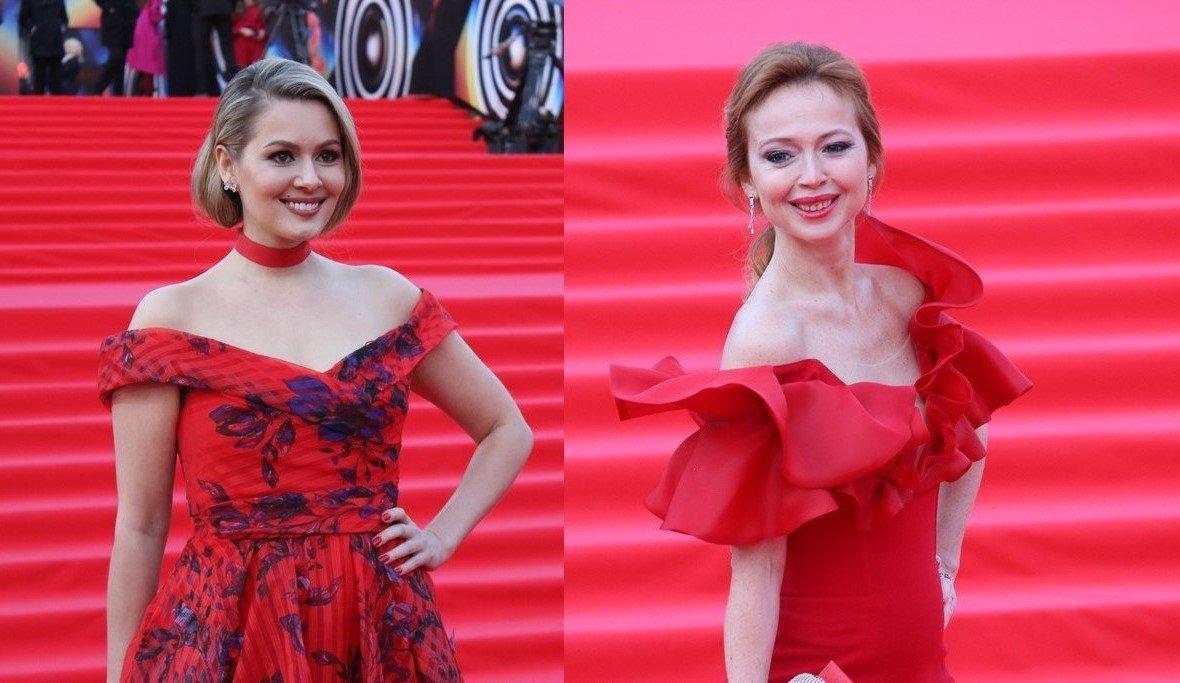В красном на красной дорожке: Мария Кожевникова и Елена Захарова