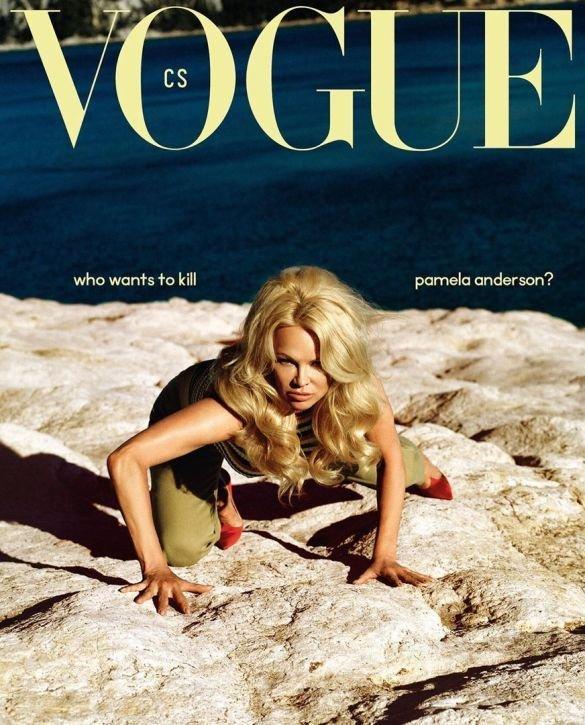 Памела Андерсон впервые появилась на обложке Vogue