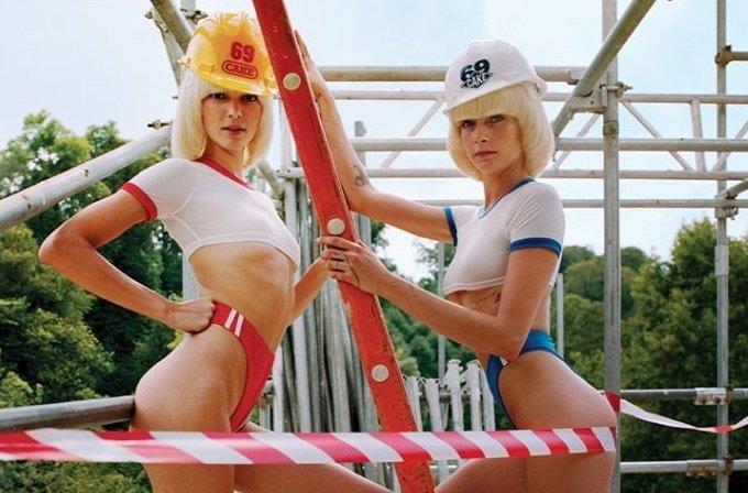 Кара Делевинь и Кендалл Дженнер снялись для календаря CHAOS 2020