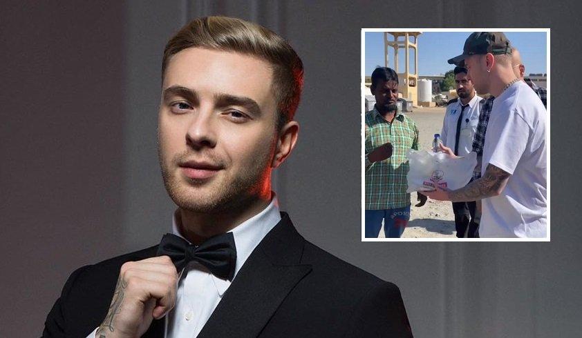 Егор Крид пообщался с нуждающимися жителями Дубаи
