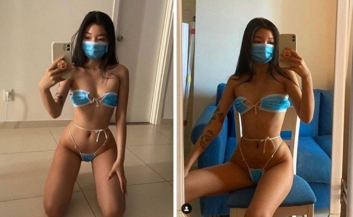35 девушек, которые решили прикрыть отверстия на теле масками. И это не только рот