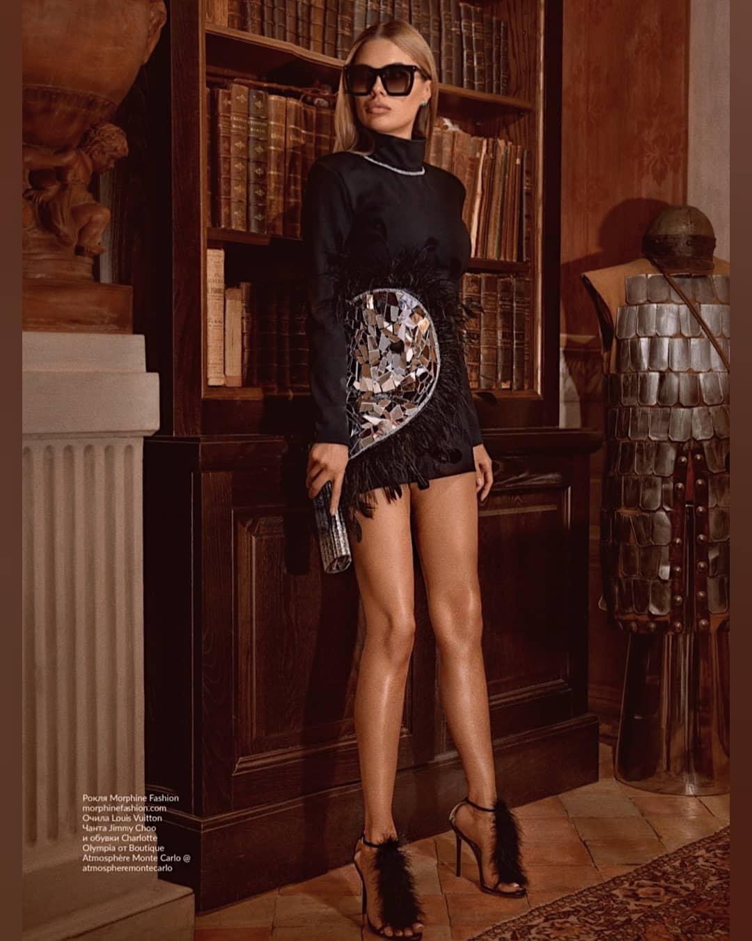 Виктория Боня показала сексуальную фигуру на страницах журнала Glamour