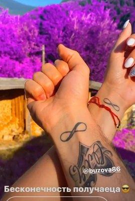 Ольга Бузова и Давид Манукян показали одинаковые романтические татуировки