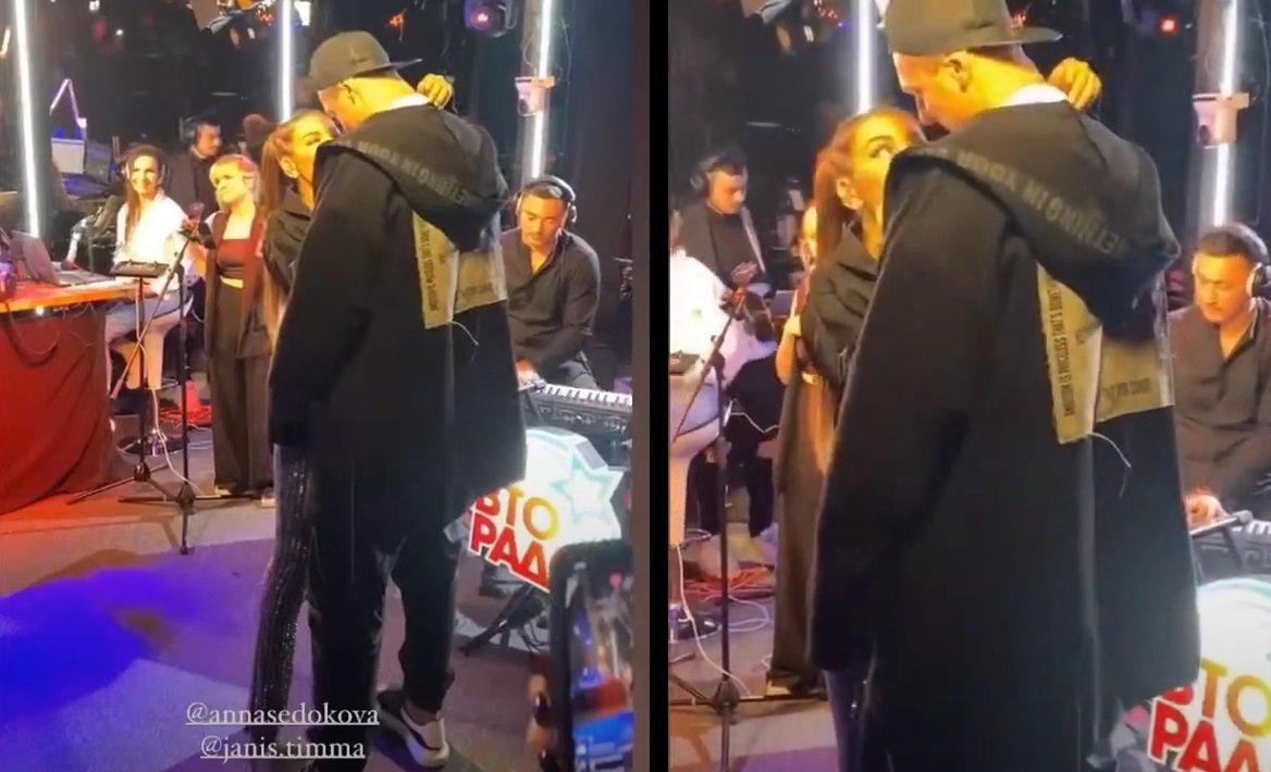 Анна Седокова привела мужа Яниса Тимма на радио