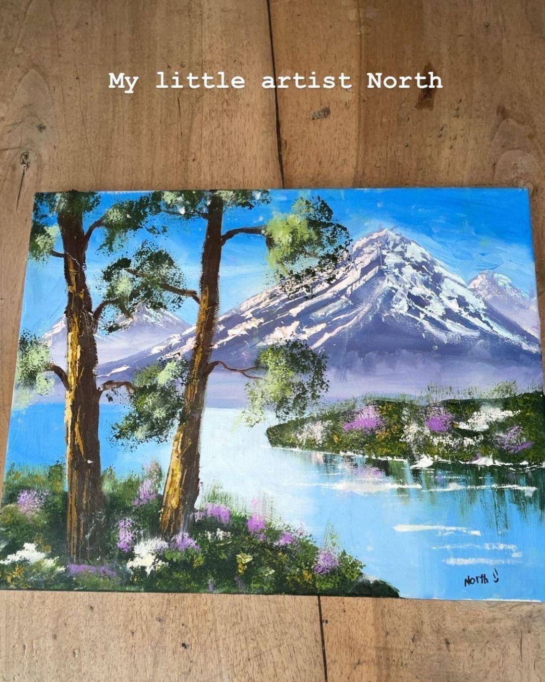 В Сети не поверили, что дочка Ким Кардашьян сама рисует настолько шикарные картины