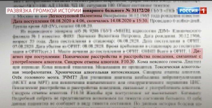Обнародована медицинская экспертиза Валентины Легкоступовой