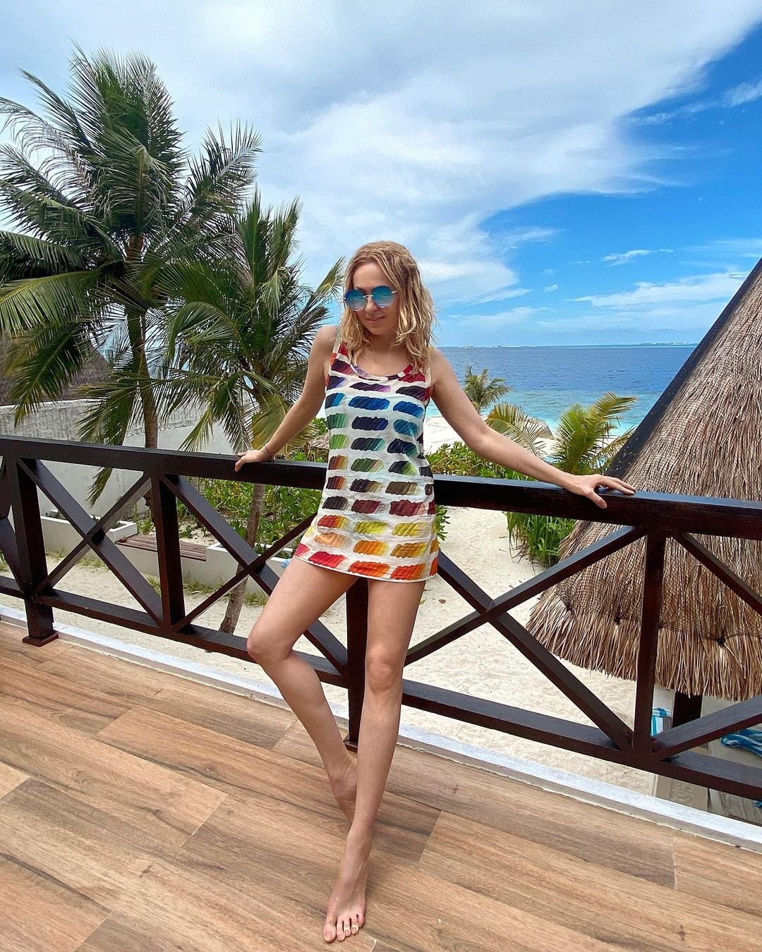 Яна Рудковская с семьёй устроила себе шикарный отдых на Мальдивах