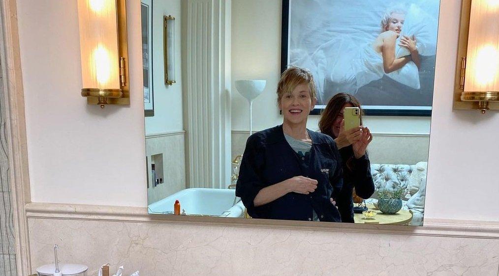 63-летняя Шэрон Стоун выглядит шикарно на обложке испанского ELLE