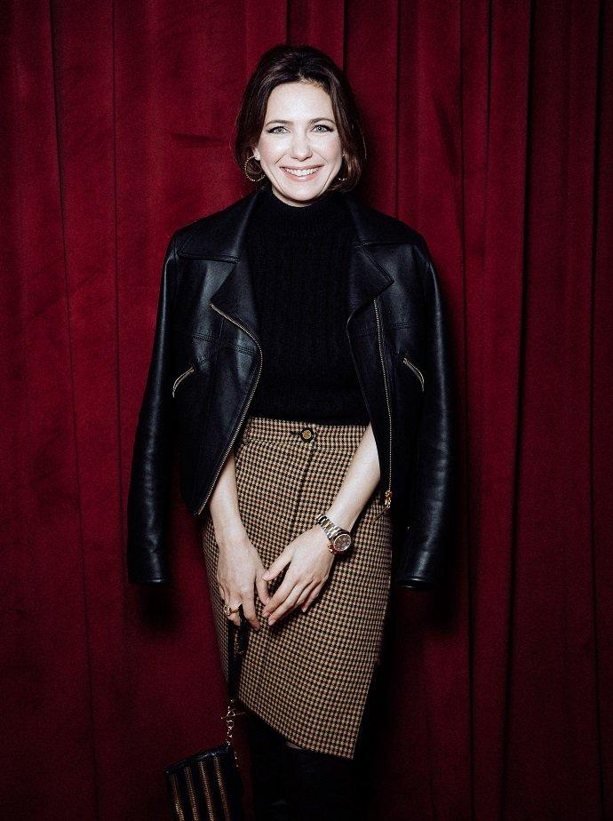 Екатерина Климова в кожаном жакете и высоких сапогах посетила премьеру фильма