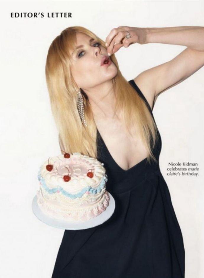 Николь Кидман появилась на обложке юбилейного издания журнала Marie Claire